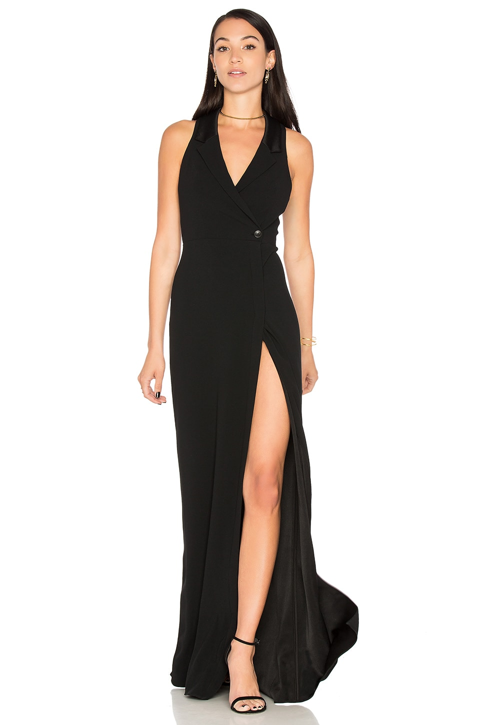 Tux Wrap Gown by Haute Hippie