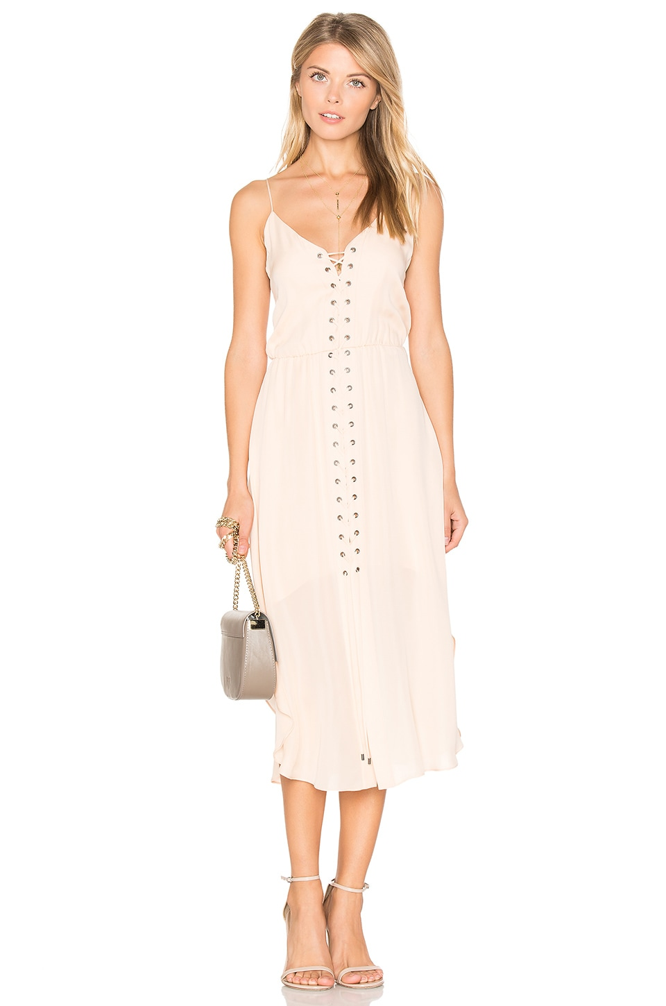 Front Lace Up Dress by Haute Hippie