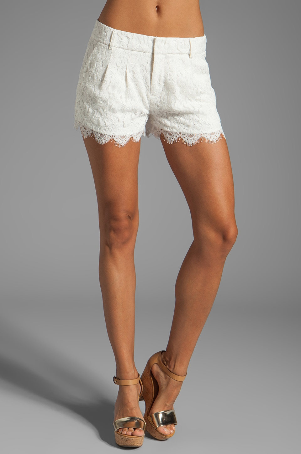 Haute Hippie Lace Short in Swan