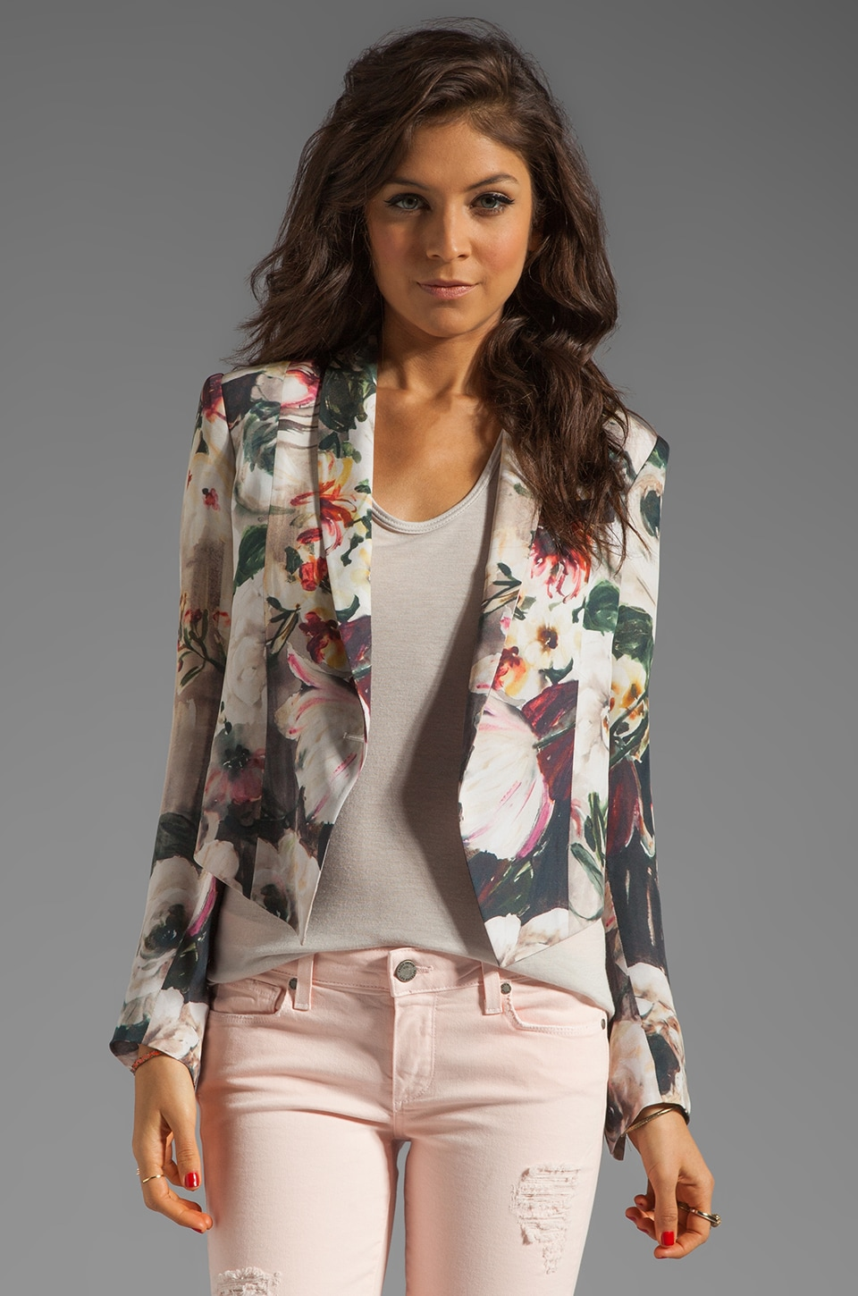 Haute Hippie Floral Jacket in Floral Multi