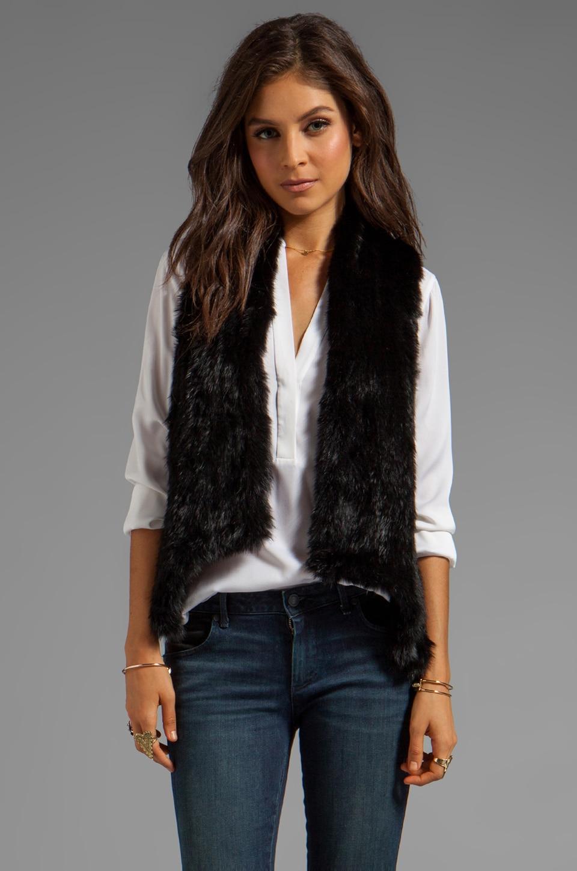 Haute Hippie Skinny Bunny Vest in Black