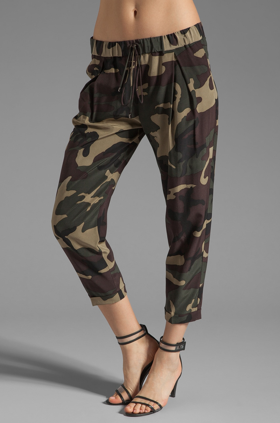 Haute Hippie Silk Pant in Fatigue Camo