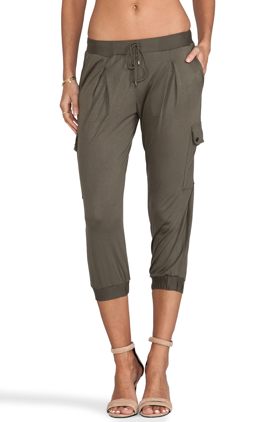 Haute Hippie Cropped Skinny Pant in Military