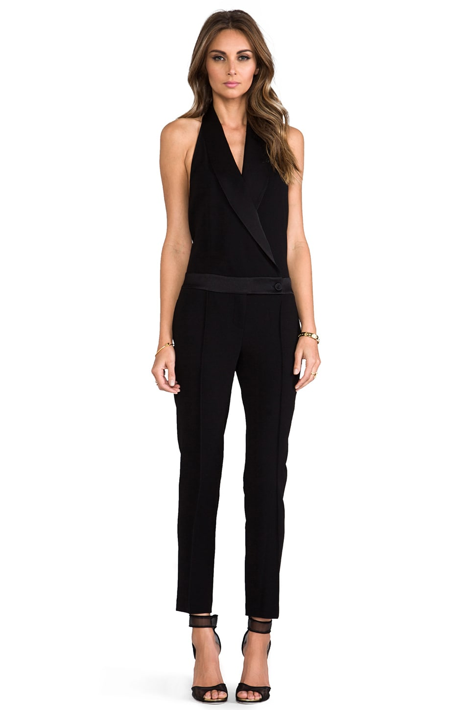 Haute Hippie Tux Jumpsuit with Low Back