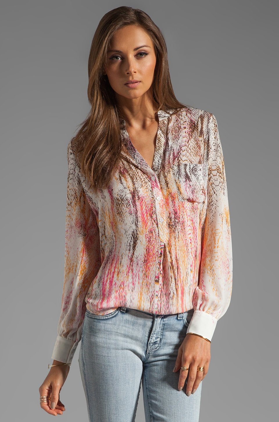 Haute Hippie Henley Blouse in Multi