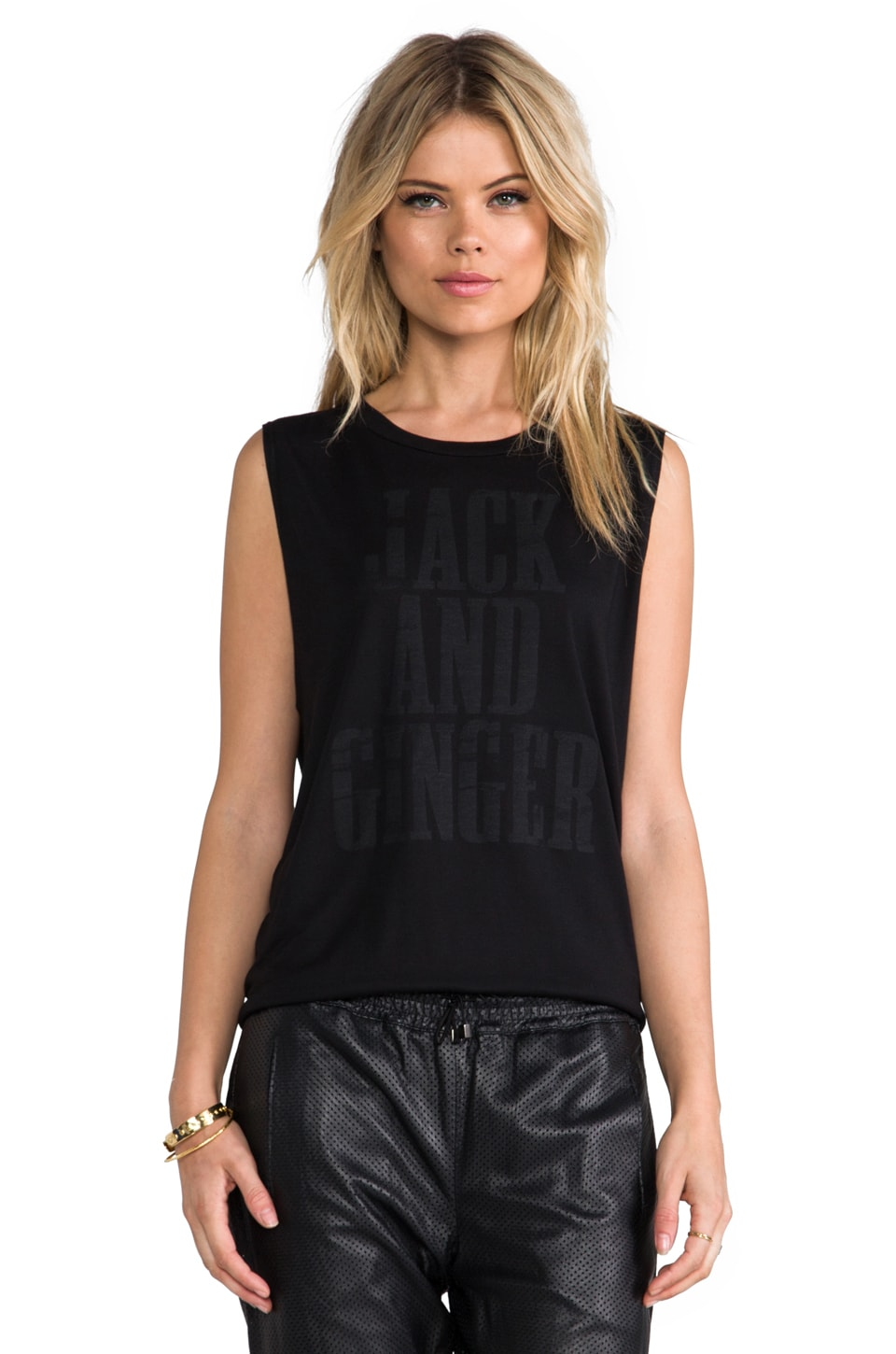 Haute Hippie Jack and Ginger Muscle Tank in Black