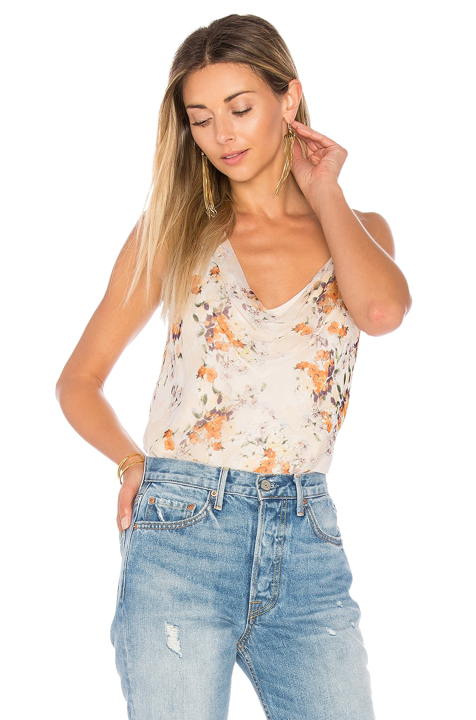 Haute Hippie La Lady Blouse in Cherry Blossom