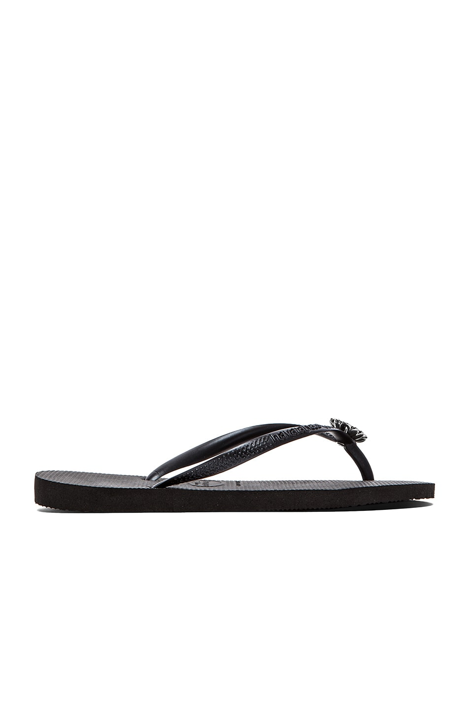 Havaianas Slim Crystal Poem Flip Flop in Black