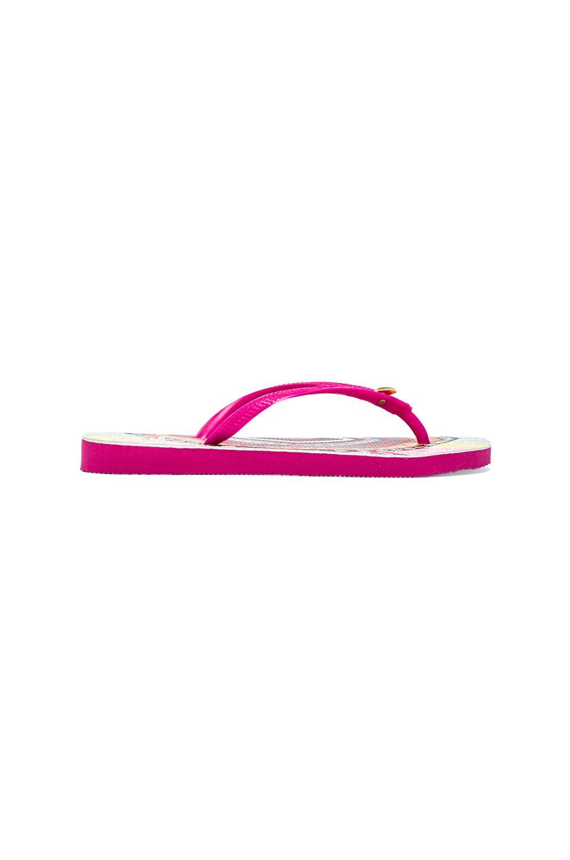Havaianas x Mara Hoffman Rays Slim Sandal in Pink