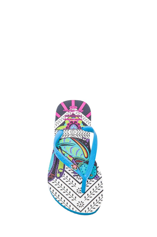 Havaianas x Mara Hoffman Rays Slim Sandal in Turquoise