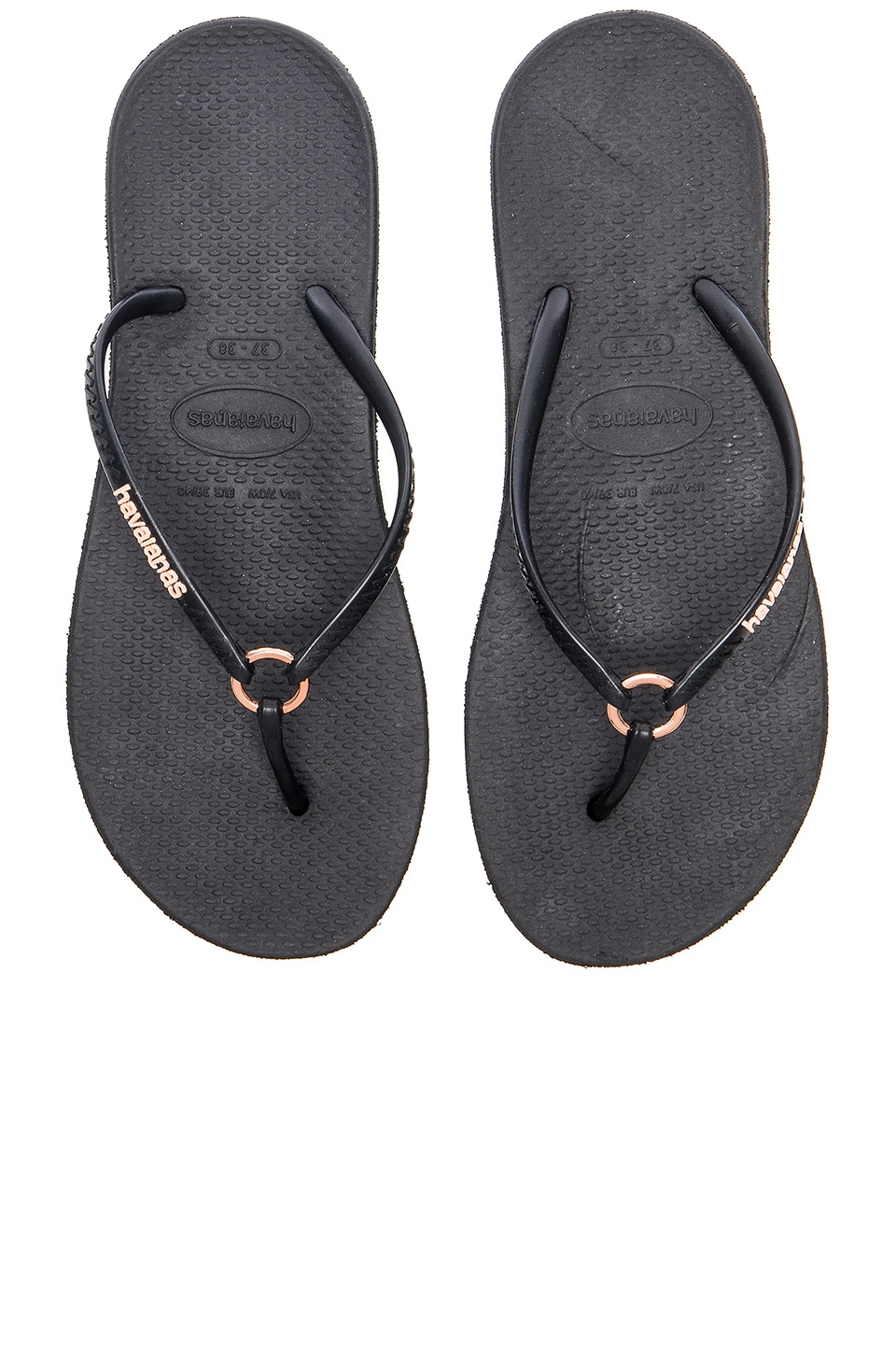 76ebf197f Havaianas Ring Flip Flop in Black