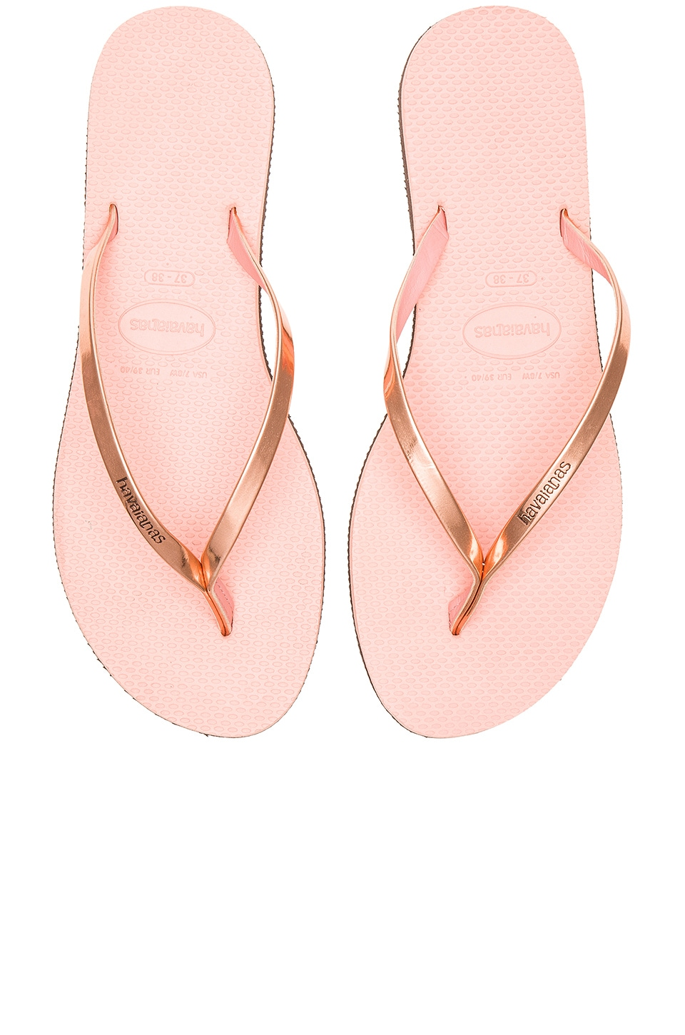 Havaianas You Metallic Flip Flop in Light Pink