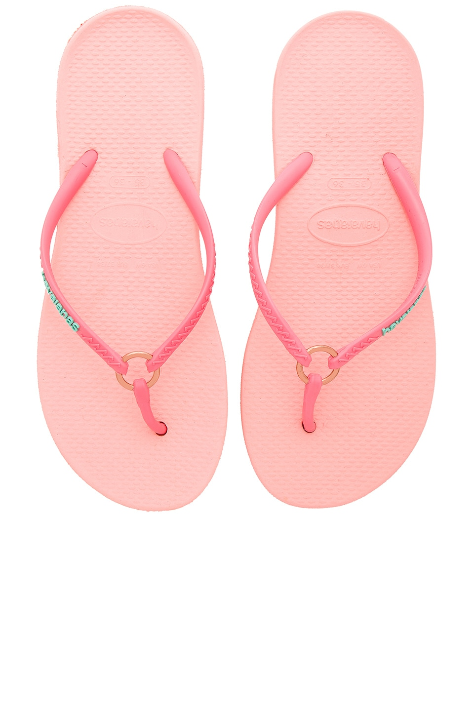 Havaianas Ring Flip Flop in Light Rose