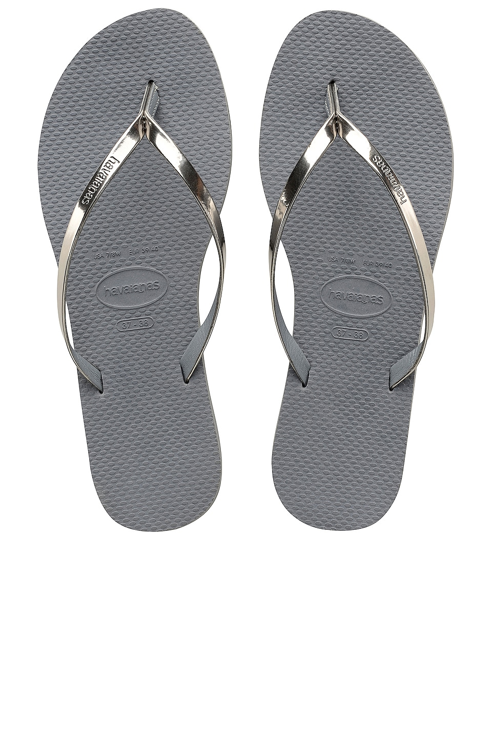 93c8d2539d7c Havaianas You Metallic Flip Flop in Steel Grey