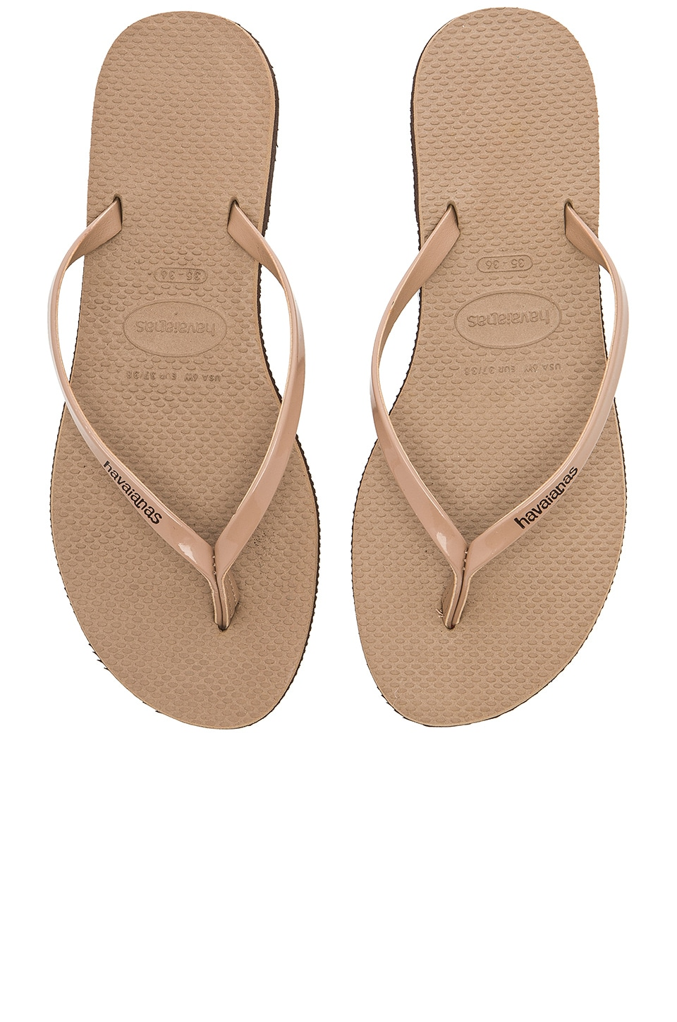 Havaianas You Metallic Sandal in Rose Gold