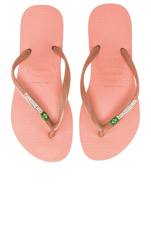 Havaianas Slim Brazil Sandal in Rose Nude