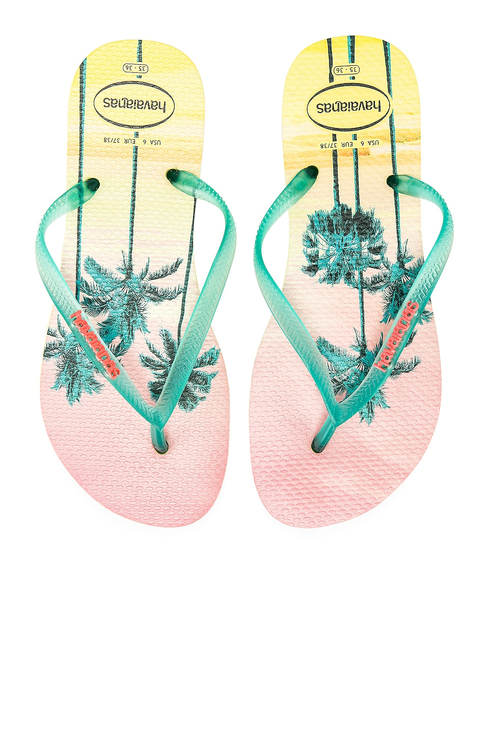 Havaianas Slim Paisage Sandal in Pollen Yellow