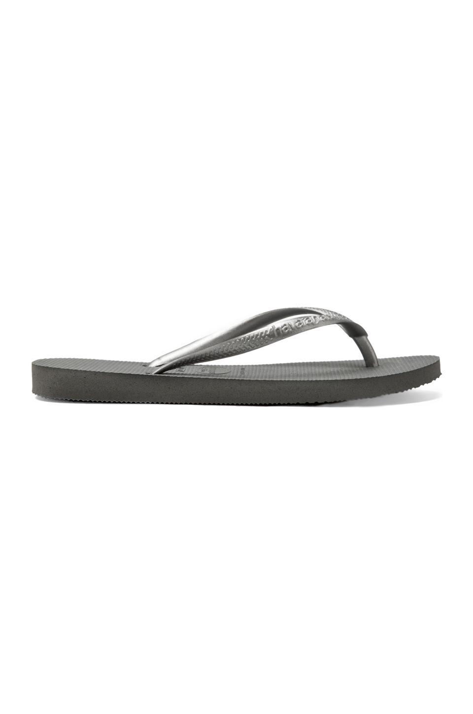 Havaianas Slim Flip Flop in Grey/Silver