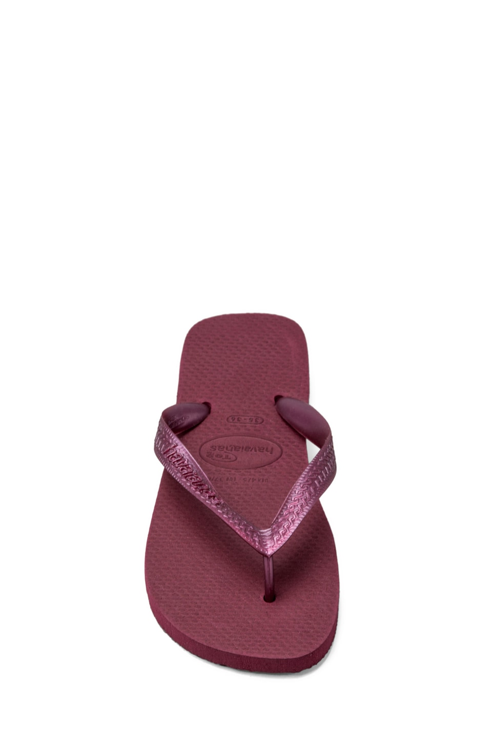 Havaianas Top Metallic Flip Flop in Bordeaux