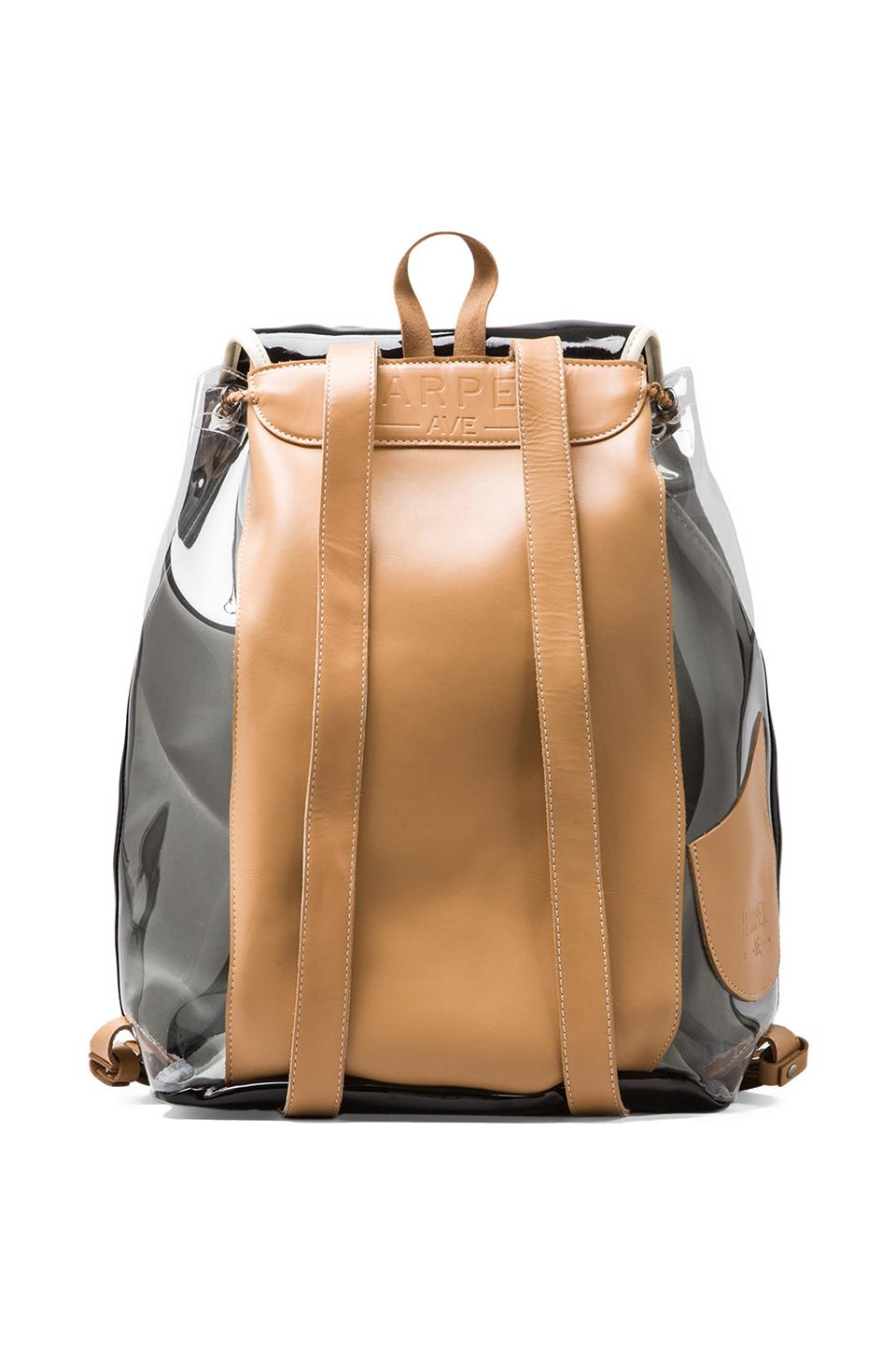 Harper Ave Kazuyo Backpack in Black & Clear