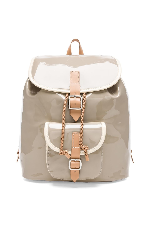 Harper Ave Mini Le Corb Backpack in Gray Patent