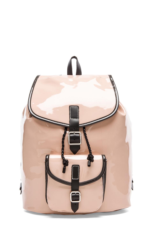 Harper Ave Minjun Backpack in Blush Patent