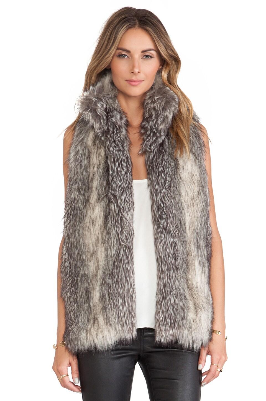 Hunter Bell Caden Faux Fur Vest in Grey