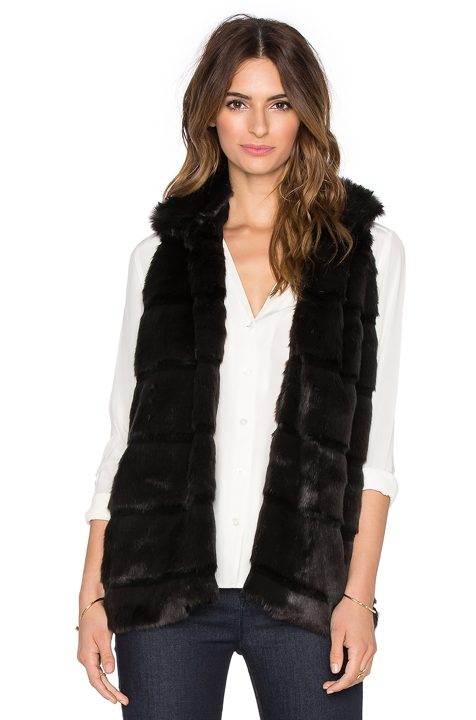 Caden Faux Fur Vest at Revolve Clothing