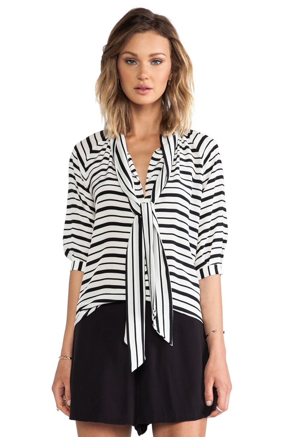Hunter Bell Tess Blouse in Stripe