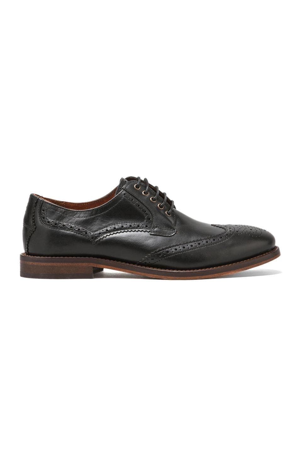 H by Hudson Haskin Lace Up Wing Tip in Black