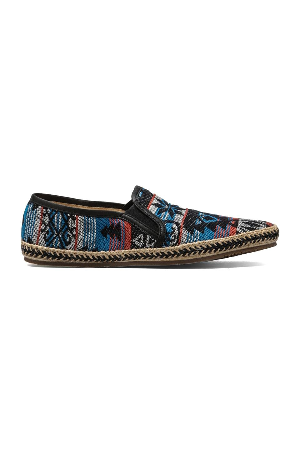 H by Hudson Orca Canvas Slip-On in Blue Multi