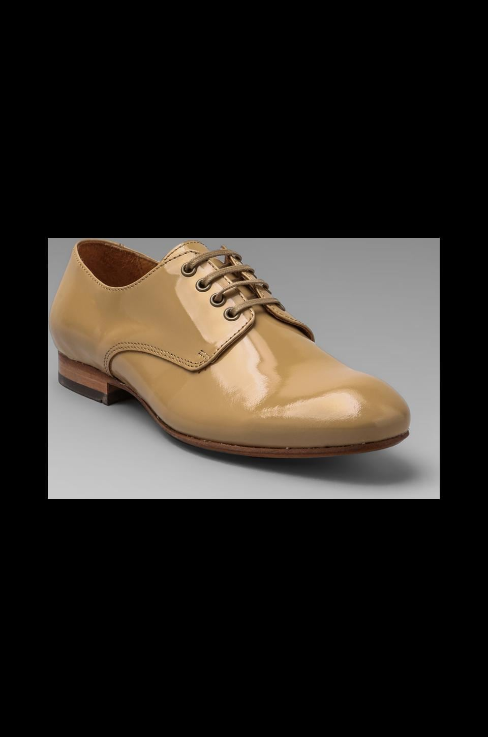 H by Hudson Lincoln Patent Oxfords in Beige