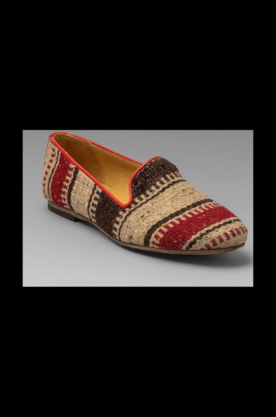 H by Hudson Bolero Fabric Loafer in Red Multi
