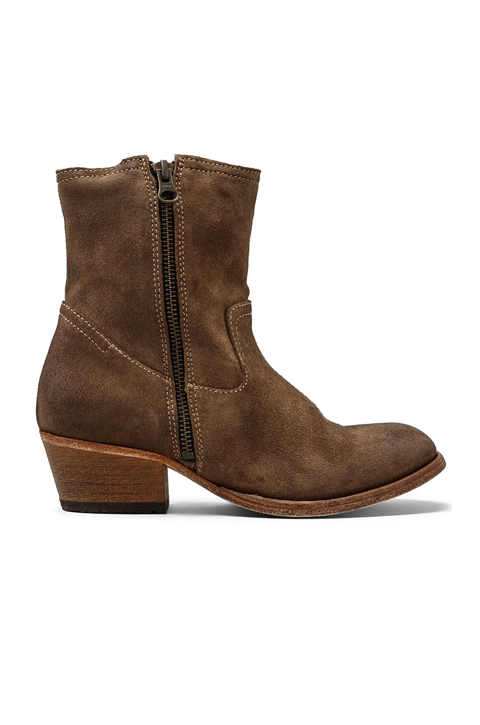 H by Hudson Riley Suede Bootie in Beige