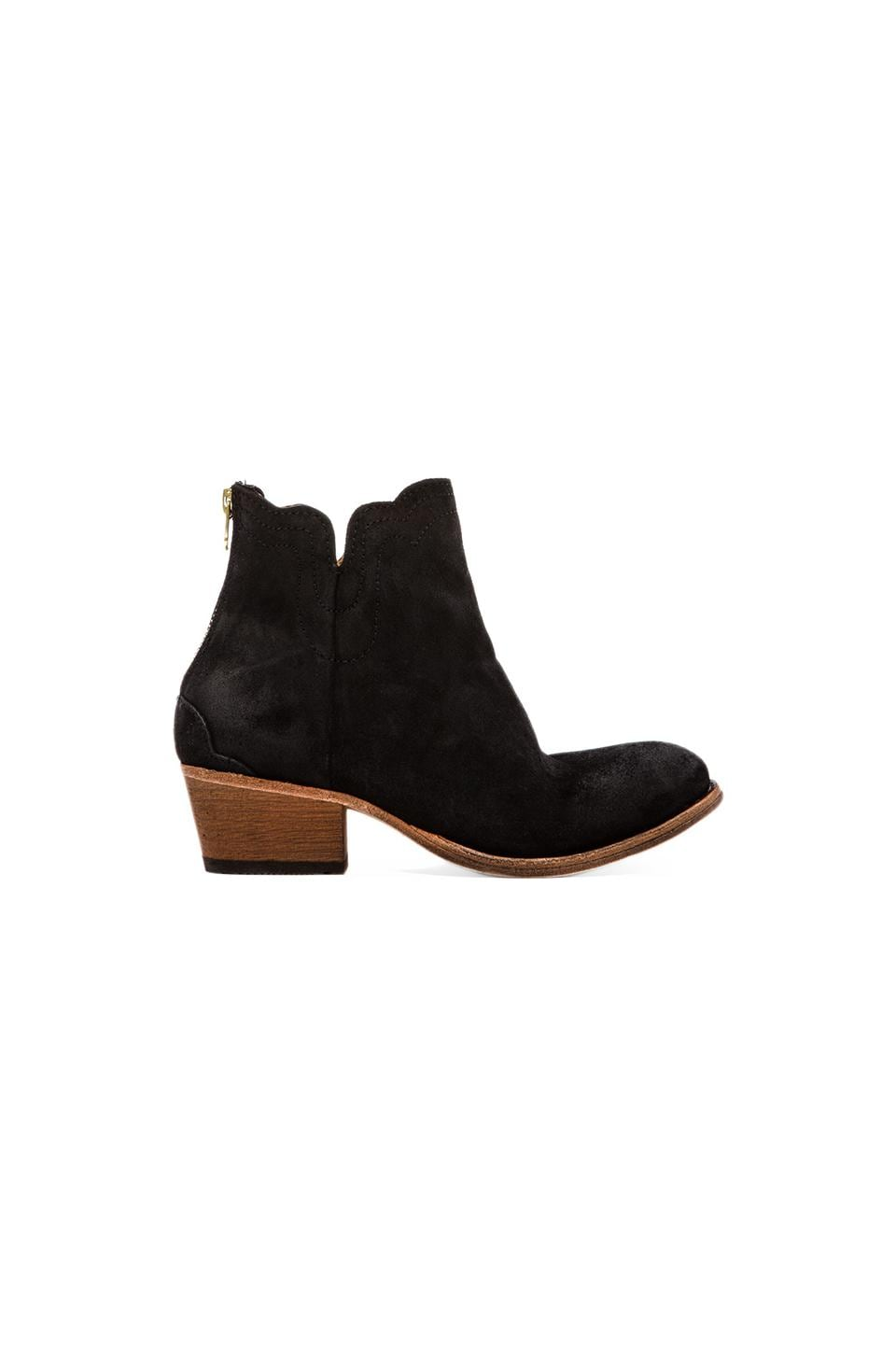 H by Hudson Mistral Bootie in Suede Black