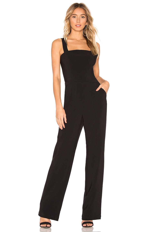 HEARTLOOM Millie Square Neck Jumpsuit in Black
