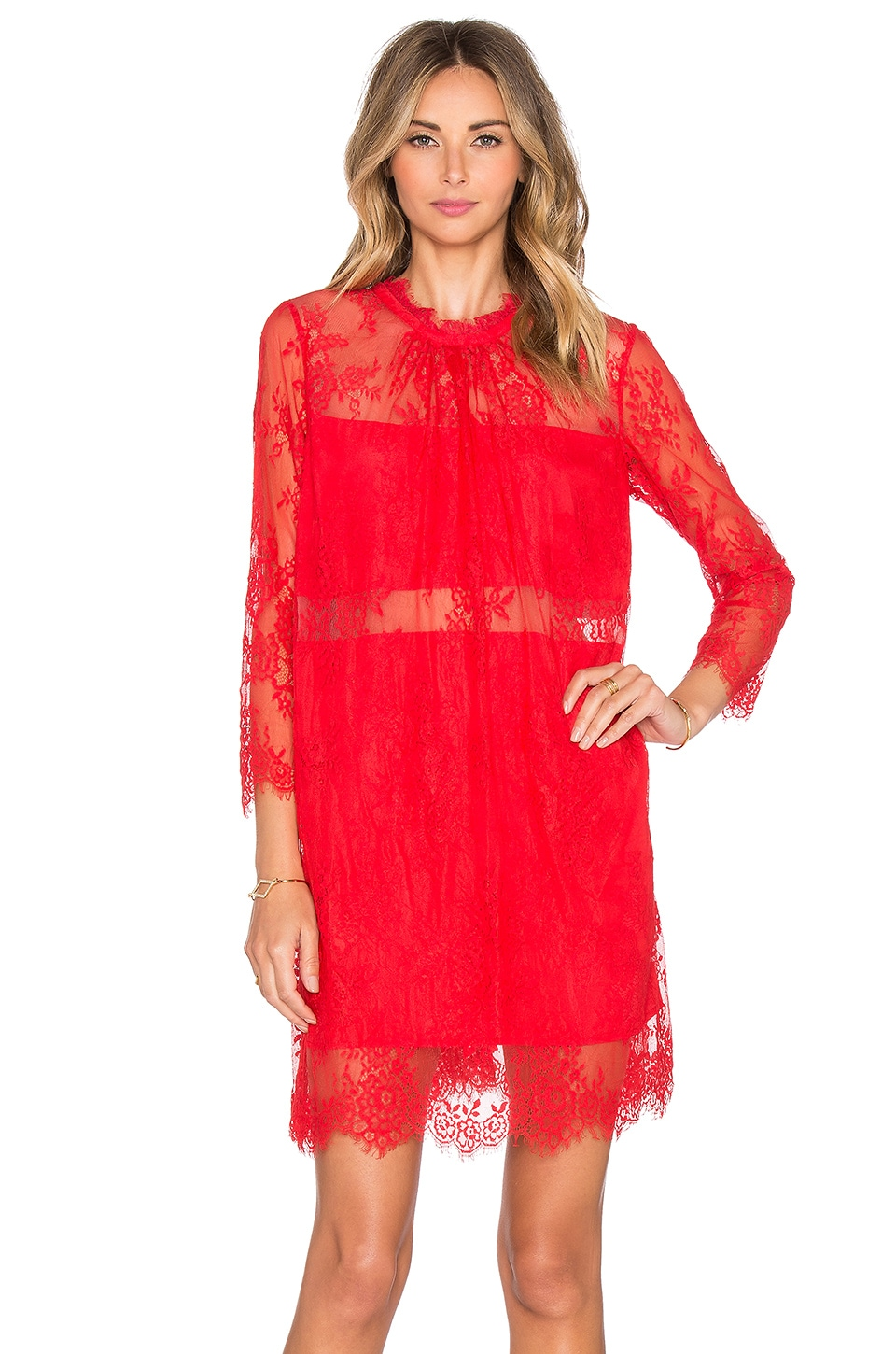 HEARTLOOM x REVOLVE Albie Dress in Scarlet