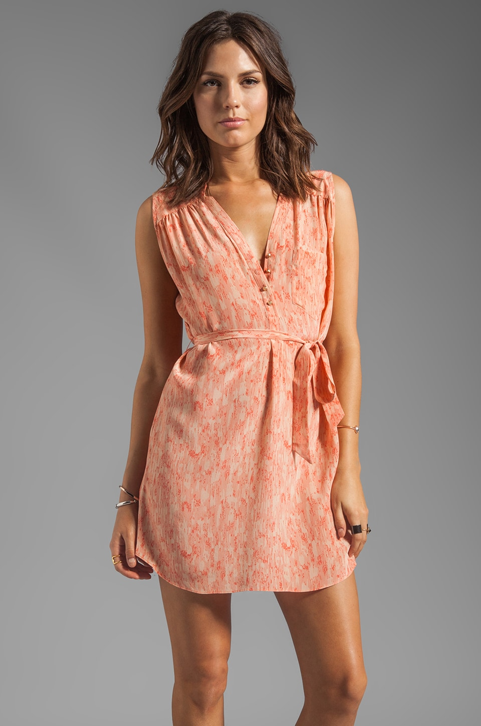 HEARTLOOM Mina Dress in Coral