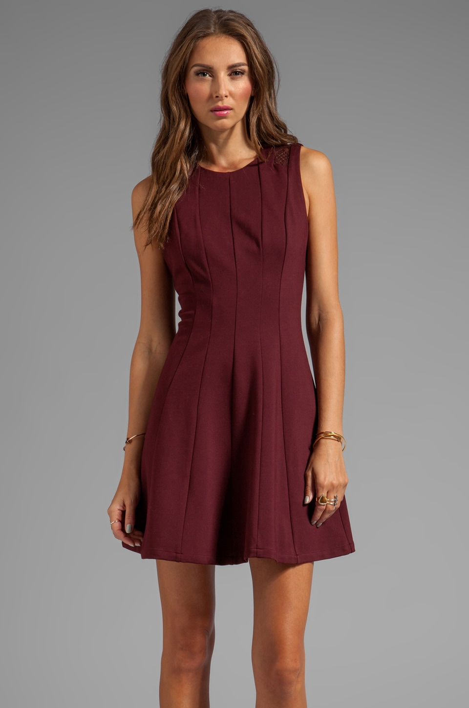 HEARTLOOM Kelsie Dress in Merlot