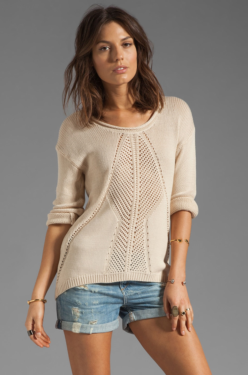 HEARTLOOM Malia Sweater in Ecru