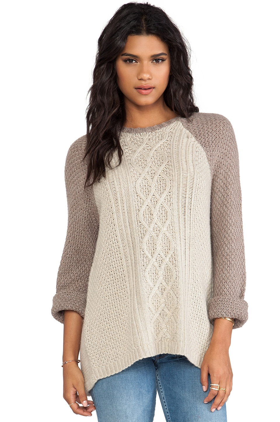 HEARTLOOM Sand Pull Over Sweater in Sand