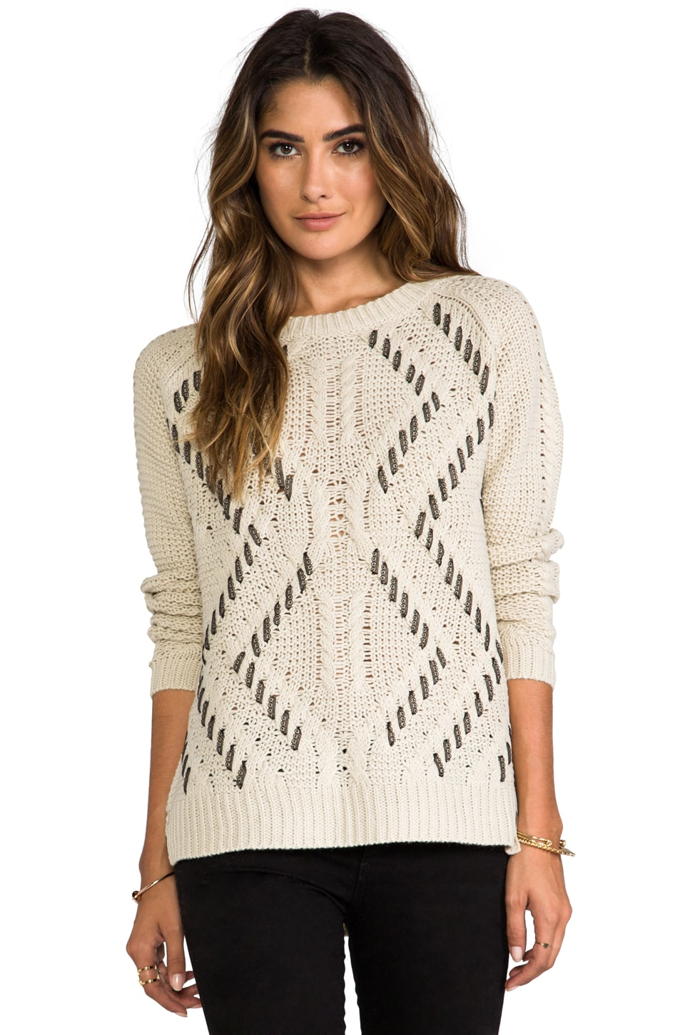 HEARTLOOM Emery Sweater in Stone