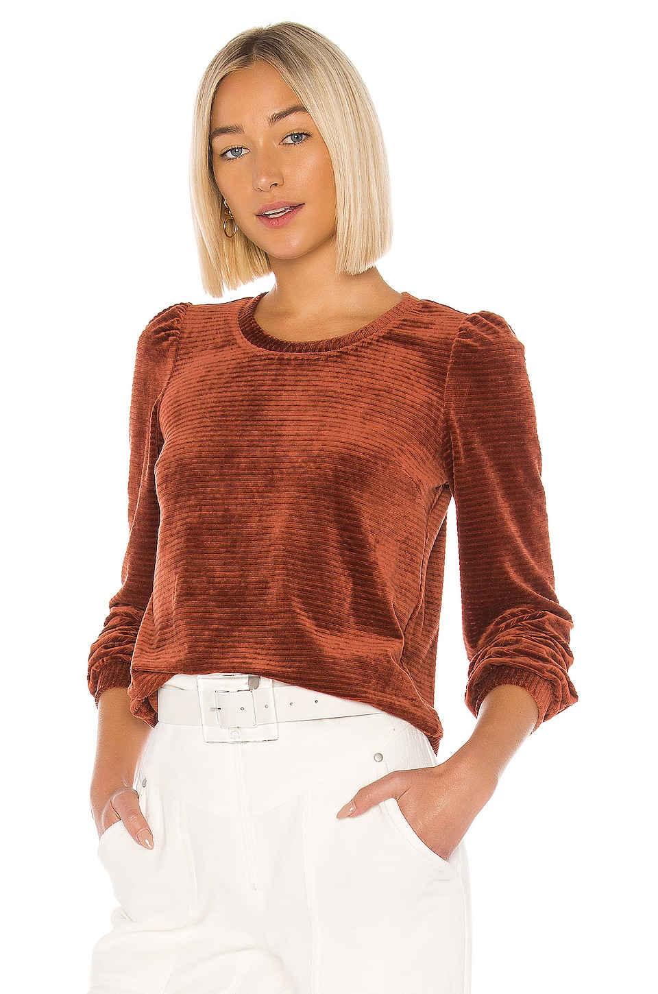 HEARTLOOM Allie Pullover in Terracotta