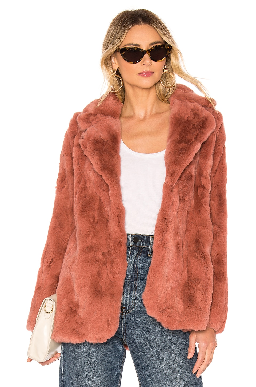 HEARTLOOM Una Fur Coat in Blossom