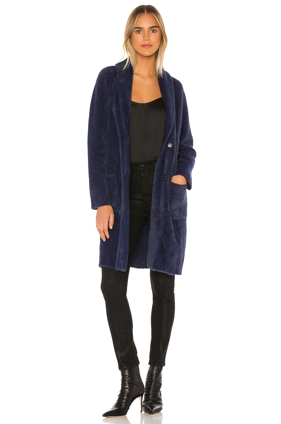 HEARTLOOM Ramona Coat in Midnight