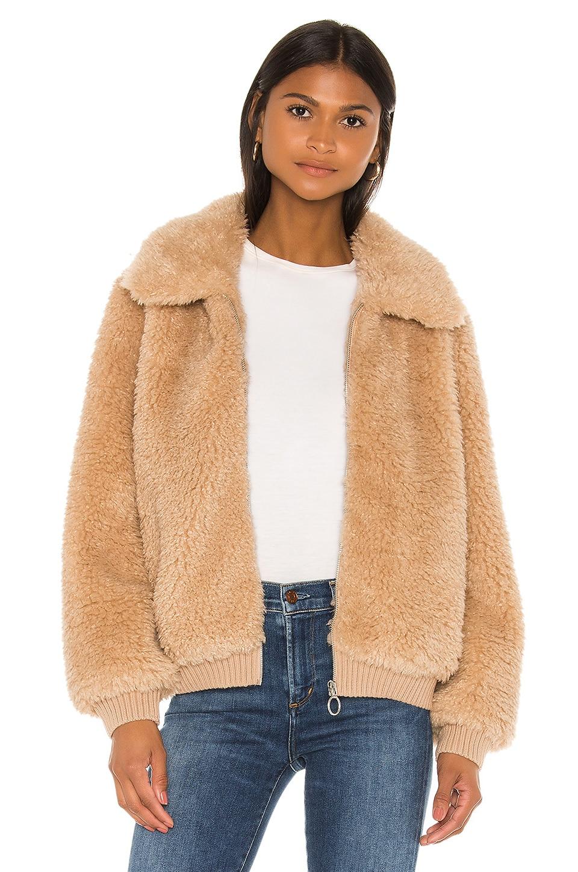 HEARTLOOM Mosey Faux Fur Jacket in Ecru