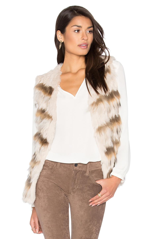 Sullivan Rabbit & Asiatic Raccoon Fur Vest by HEARTLOOM