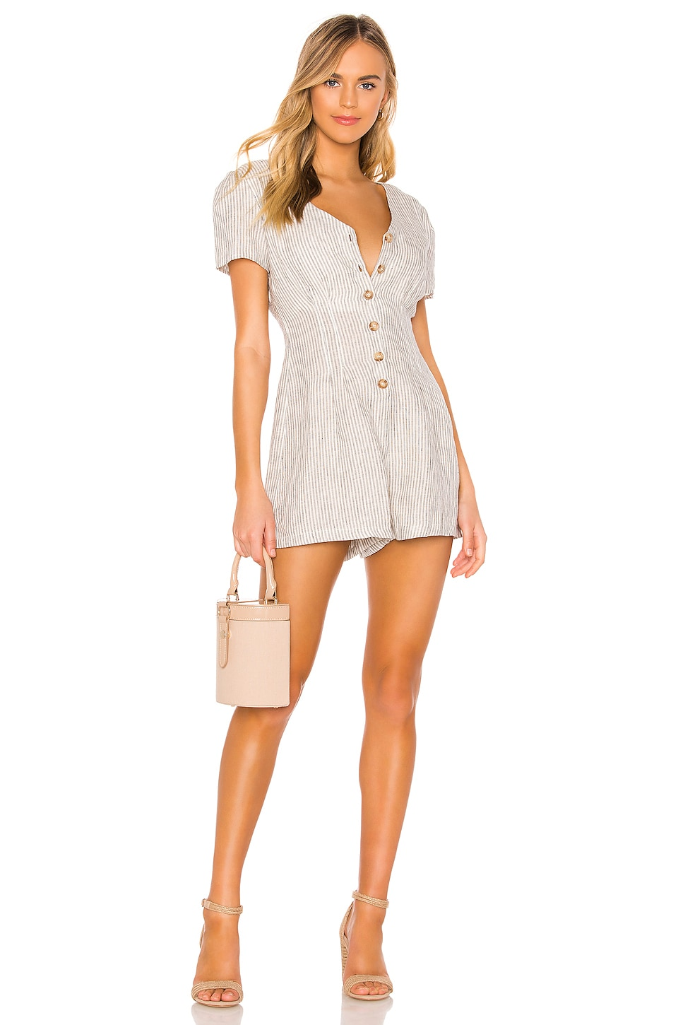 HEARTLOOM Kate Romper in Eggshell