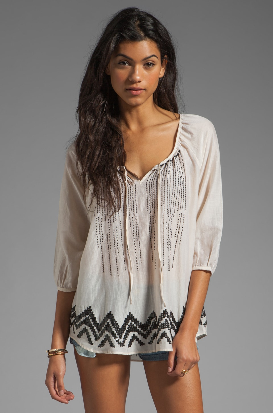 HEARTLOOM Tompkins Top in Stone