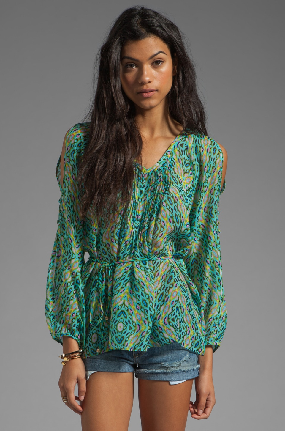heartLoom Dalia Top in Seafoam